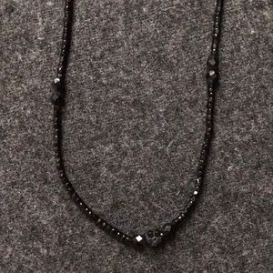 Jewelry - Handmade black beaded necklace